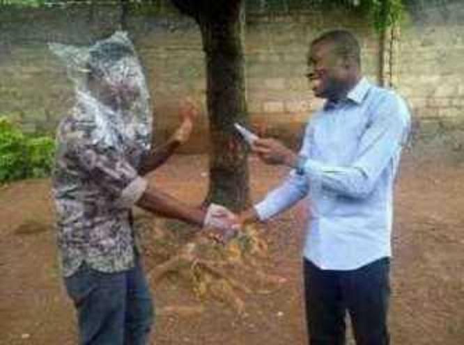 Youre all screwed! Man jokes he has Ebola taken off