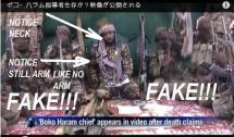 SHEKAU IS DEAD BUT AFP IS THE SHAMEFUL NEWS AGENCY PROMOTING A FAKE SHEKAU TO THE WORLD!...SEE PICS