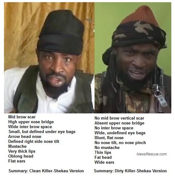 SHEKAU IS DEAD BUT AFP IS THE SHAMEFUL NEWS AGENCY PROMOTING A FAKE SHEKAU TO THE WORLD!...SEE PICS