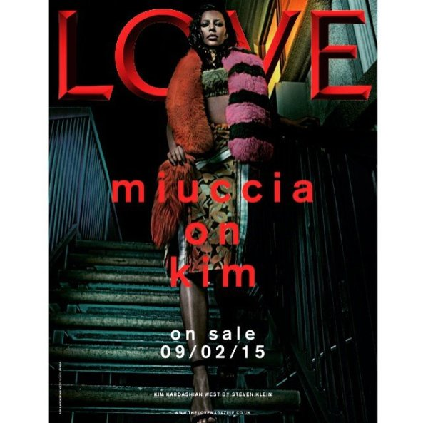 .PIC…KIM KARDASHIAN, IS THAT YOU?...KIM KARDASHIAN LOOKS UNRECOGNIZABLE WITH BLEACHED EYEBROWS ON LOVE MAGAZINE COVER