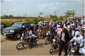 JIMMY AGBAJE VOWS TO END LOOTING IN LAGOS...AS OKADA-RIDING AND BOLI-BUYING BECOMES ASO-EBI FOR POLITICIANS!
