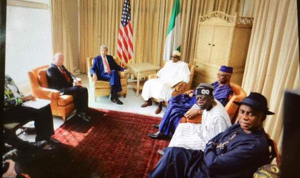 BUHARI TO KERRY...JONATHAN CANNOT OVERCOME BOKO HARAM BECAUSE OF CORRUPTION AND HIS UNWILLINGNESS TO  DO WHAT IS RIGHT