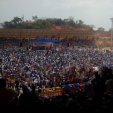 THESE BUHARI CROWD PICS FROM EKITI WILL INTIMIDATE FAYOSE...BUT TRUST PDP TO SAY THEY ARE FROM A DON MOEN MUSICAL CONCERT!