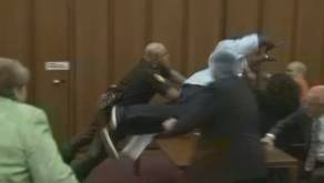 FATHER ATTACKS HIS DAUGHTER'S KILLER IN COURT!